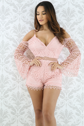 Crochet Net Romper