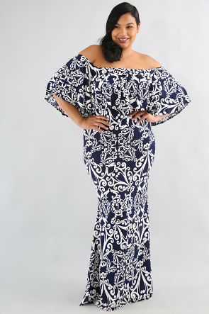 Bohemian Flare Maxi Dress