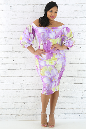 Easter Lilac Bodycon Dress