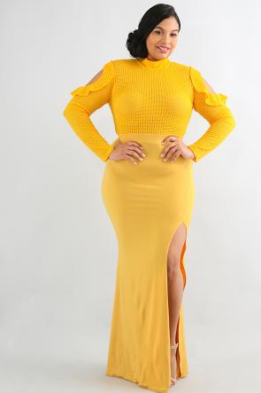 Attractive Grid Maxi dress