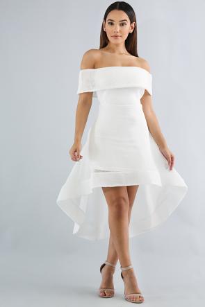 Net Off Shoulder Dress