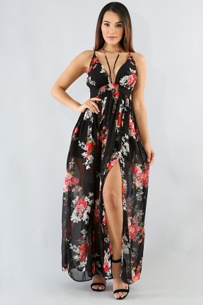 Garden Floral Maxi Dress