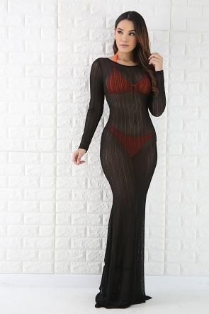 See Through Mermaid Maxi Dress