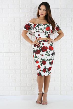 Thorne Rose Skirt Set