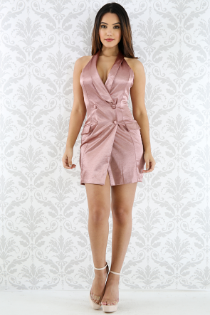 Silky Tuxe Mini Dress