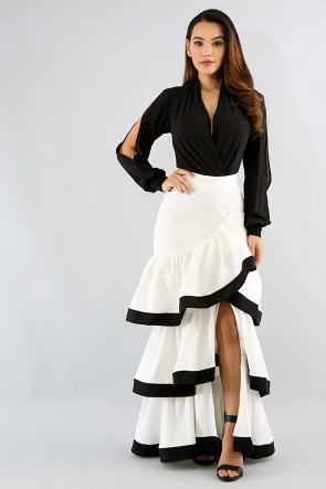Tier Ruffle Roche Skirt