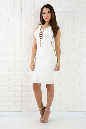 Lattice Corset Mini Dress