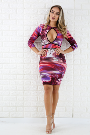 Hole New World Bodycon Dress