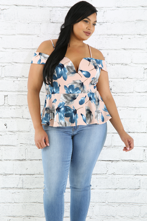 Floral Gentiana Top