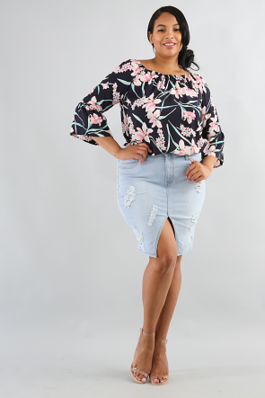 Poppy Floral Top