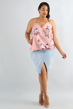 Silky Overly Floral Top