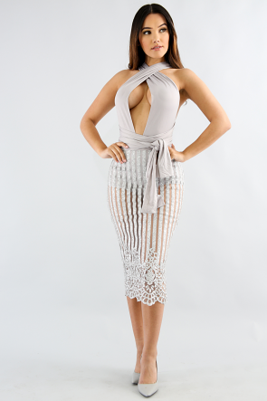 Sparkle Striped Body-Con dress