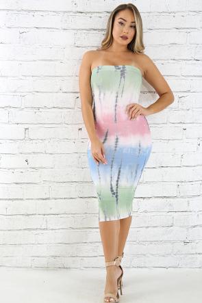 Tube Tie Dye Body-Con Dress