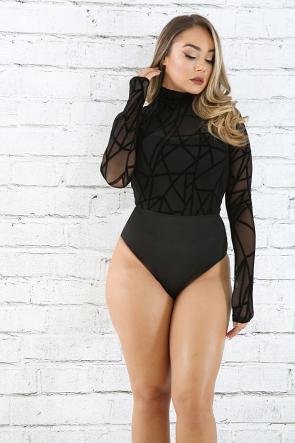 Asymmetrical Line Bodysuit