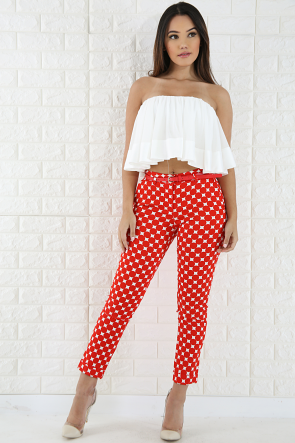 Polka Dot Comfortable Casual Pants