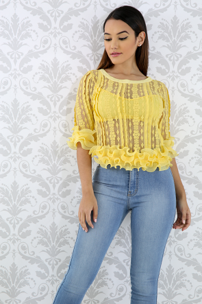 Swirly Lace Top