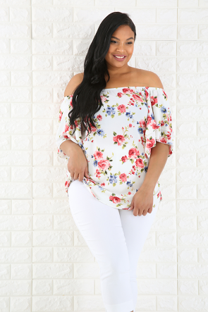 Flary Floral Top