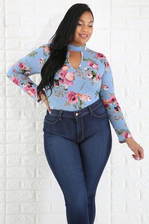 Floral Choker Bodysuit