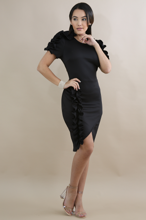Swirl Overlay Dress