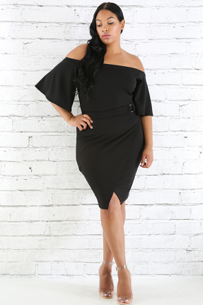 Overlay Buckle Dress