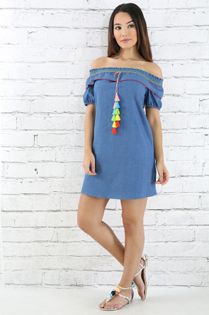 Rianbow Fiesta Denim Dress