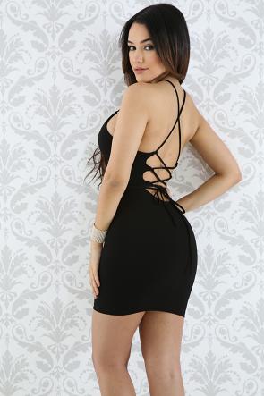 Mini Cami Corset Back Body-con Dress