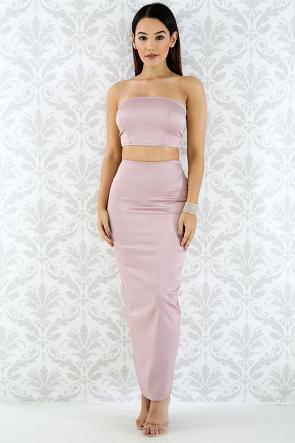 Silk Bandage Skirt Set