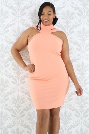 Strap Choker Body-Con Dress