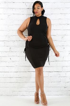 Corset Sides Body-Con Dress
