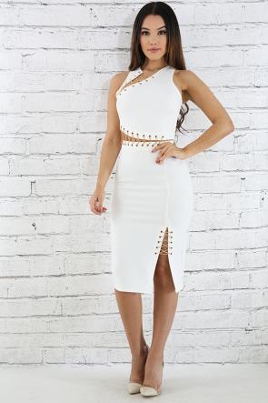 Lace Chain Body-con Dress