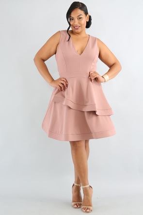 Swirl Maxi Mini Dress