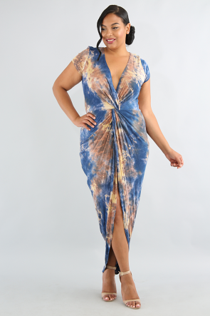 Twisted Knot Tie Dye Dress