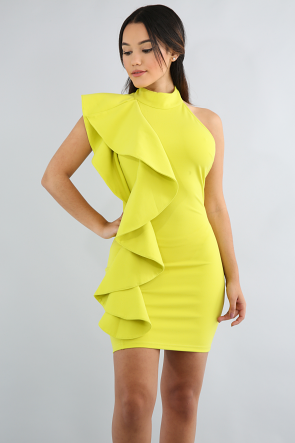 Swirly Open Back Body-Con Dress