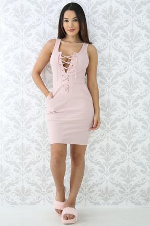 Corset Rib Knit Body-Con Dress