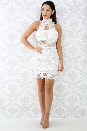 Crochet Choker Body-Con Dress
