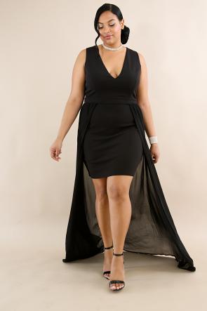 Flare Sheer Maxi Dress