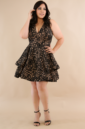 Lace Swirl Mini Dress