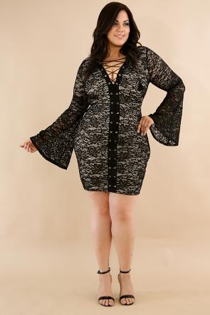 Lace Corset Body-Con Dress