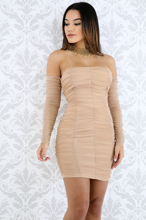Scrunched Body-Con Dress