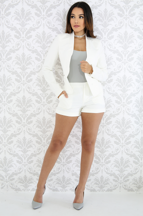 Ivory Blazer Short Set