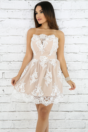 Floral Embroidered Princess Dress