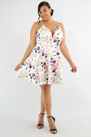 Rose Garden Flare Dress