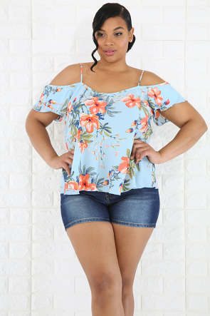 Flare Floral Top