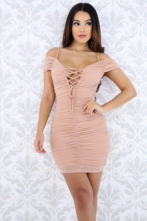 Scrunched Bodycon Dress