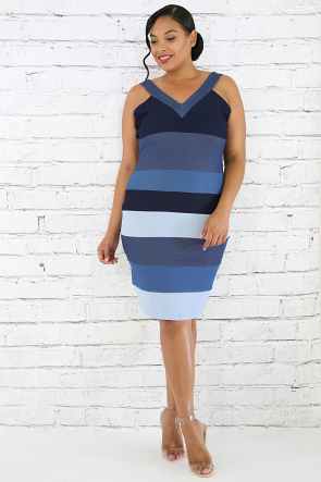 Denims Mixture Body-Con Dress