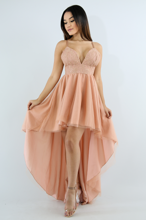 Sweet Lace Maxi Long Tail Dress