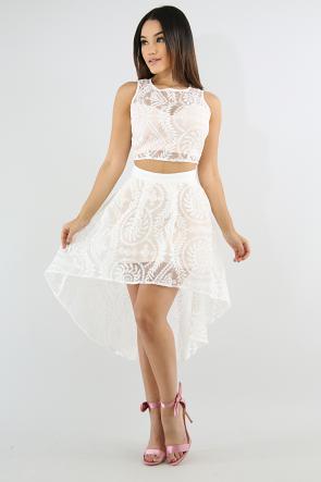 Windmill Lace Skirt Set