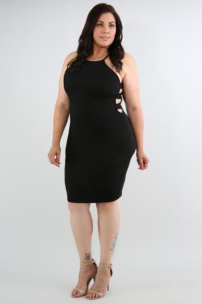 Side Ladder Body-Con Dress