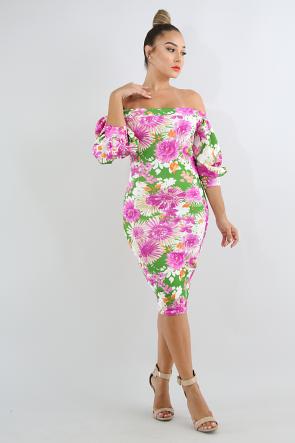 Candy Tuft Body-Con Dress