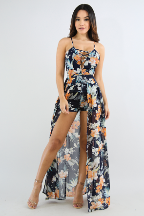 California Poppy Maxi Romper
